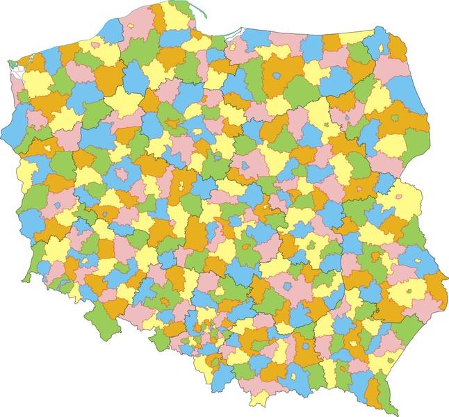 Mapa Polski z Podziałem na Województwa Mapa Polski z Podziałem