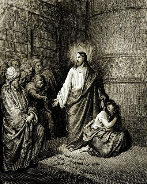 Paul Gustave Doré (1832-1883) - Jezus i jawnogrzesznica