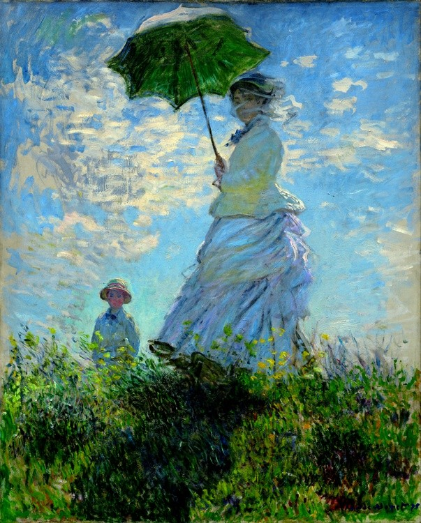 "Claude Monet (1840–1926)  ""Kobieta z parasolem"", 1875 National Gallery of Art, Waszyngton"