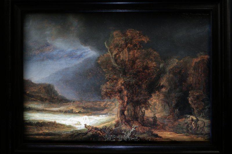 Pejzaż Rembrandta W łazienkach Królewskich Warszawagoscpl